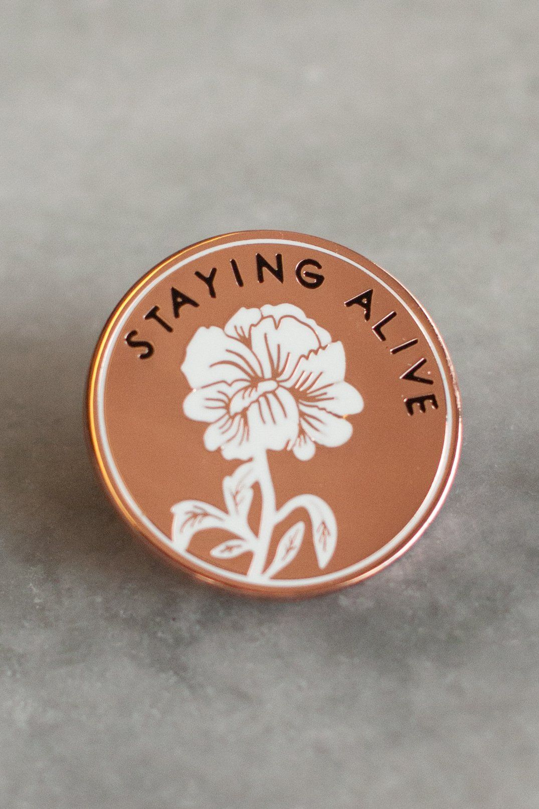 Staying Alive Pin in 2019 | -stuff i want- | Jacket pins, Lapel Pins