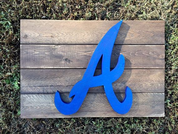Atlanta Braves A Rustic Wall Decor by TheSimplyRusticDoor on Etsy ...