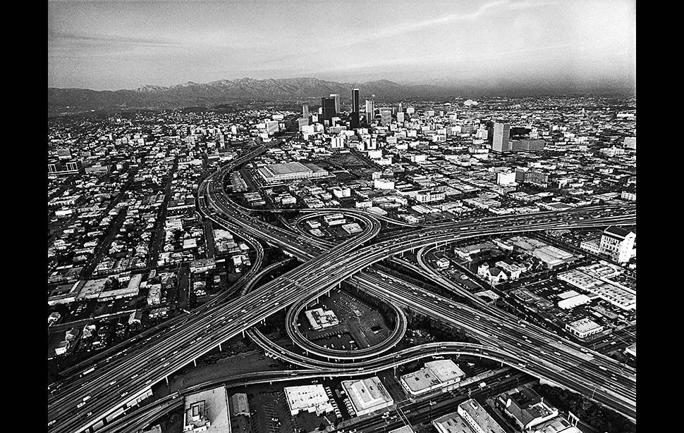 News From California The Nation And World Los Angeles Times Aerial Photo Aerial View Los Angeles Skyline