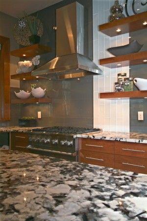Kitchen With Cold Spring Granite Countertop Limestone