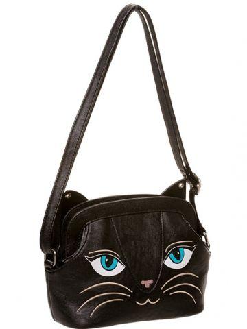 Lovely Cat Face Shoulder Bag Casual Handbag Adjustable Crossbody Purse for Women
