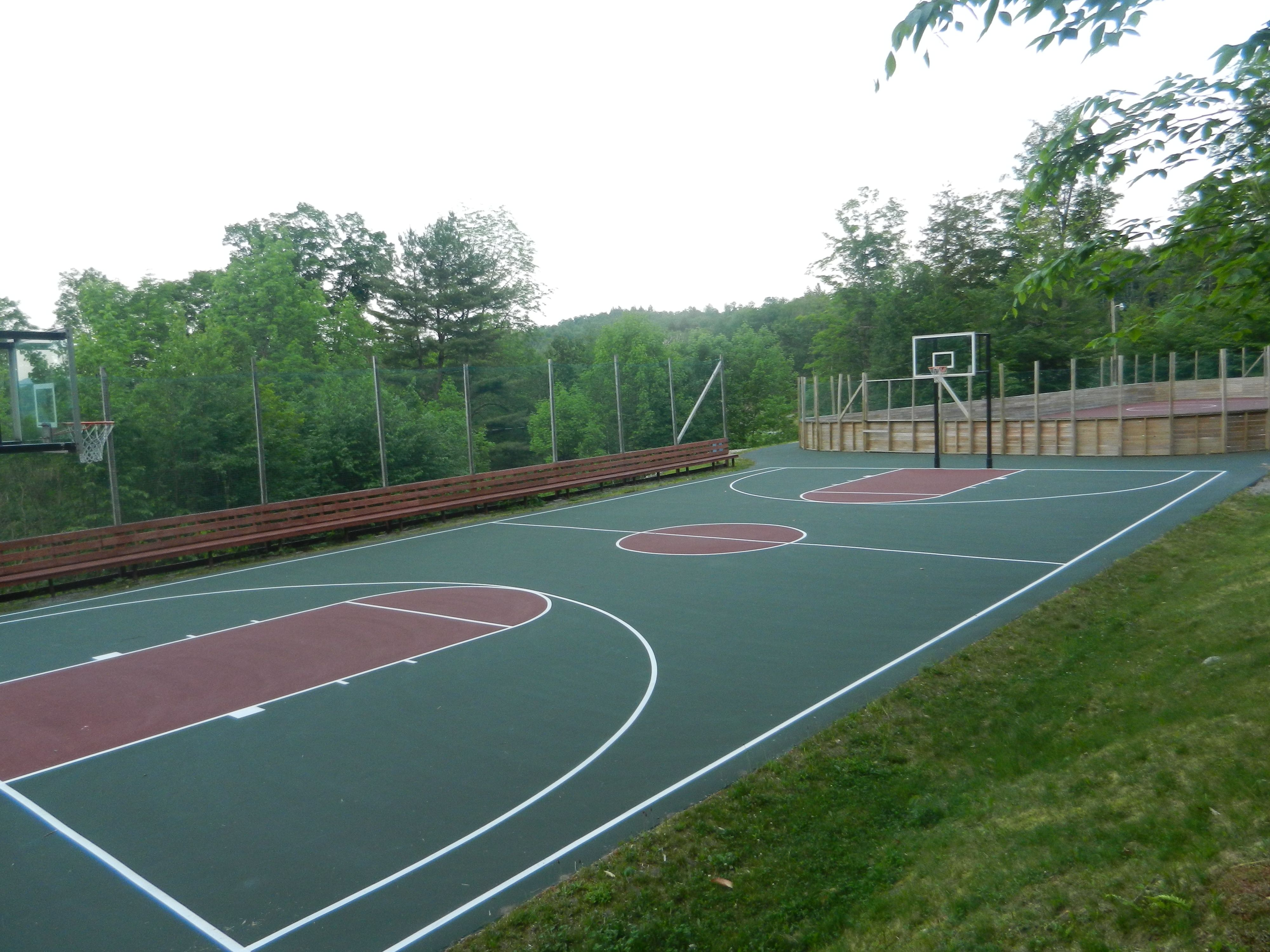 Beautiful Outdoor Basketball Court And Hockey Rink At Camp Southwoods In Paradox Ny Outdoor Basketball Court Tennis Court Outdoor