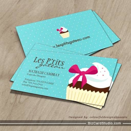 Cupcake bakery business card bakery business cards pinterest cupcake bakery business card flashek Images