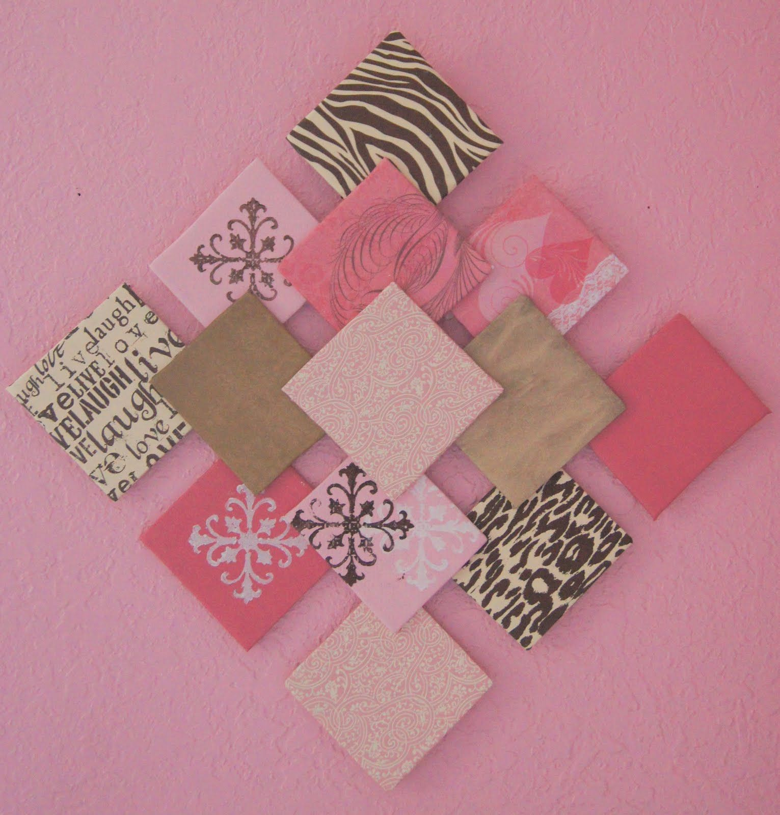How to make scrapbook paper at home - Pretty Little Inspirations Diy Paper Wall Art And Paper Flowers