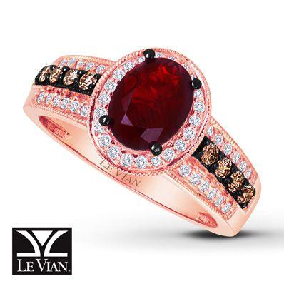 Le Vian LeVian Opal Ring 3/8 ct tw Diamonds 14K Strawberry Gold n9jP2HzCe