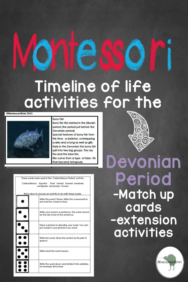 Paleozoic Era Devonian Period Montessori Pinterest