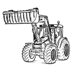 print coloring image Tractor Free printable and Stenciling