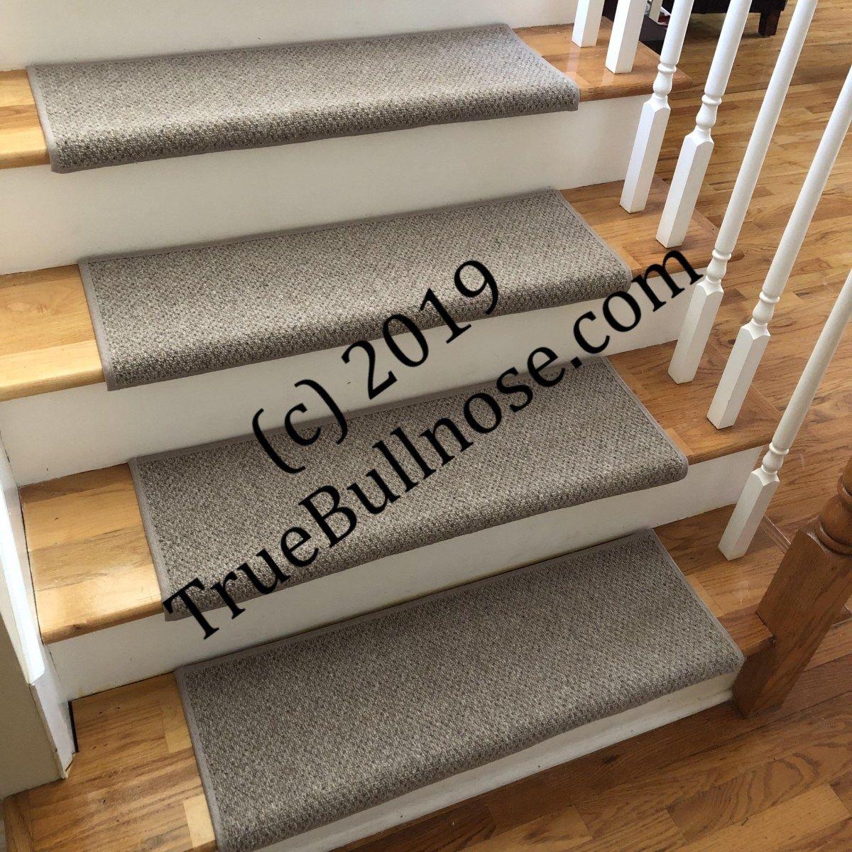Best Windsor Driftwood 100 Wool True Bullnose™ Carpet Stair Tread Jmish Dog Cat Pet Safety Runner 400 x 300