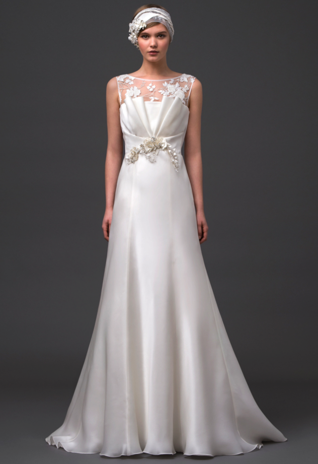 The vintage-inspired silhouette and accessories in the Gemma gown ...