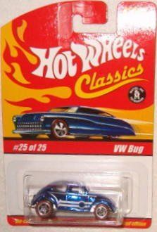 Hot Wheels Classic Series 1: VW Bug #25 of 25 by Mattel. $9.95. Collectable Line. Great Gift for Collectors and Kids. 1:64 Scale Die Cast Car. New Casting. Special Spectraflame paint. Hot Wheels Classic Series 1: VW Bug #25 of 25.