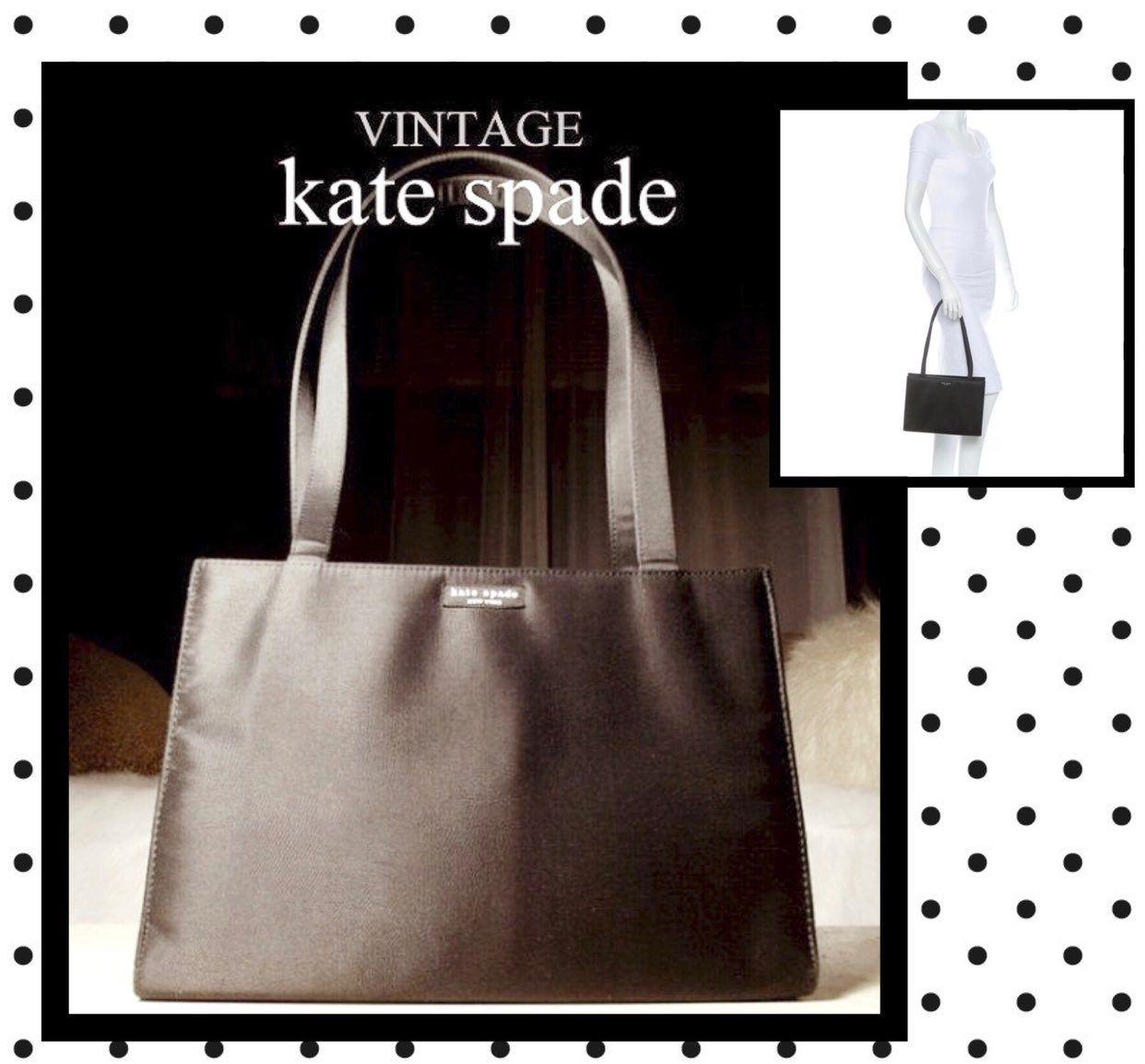 Good Condition. Kate Spade Vintage Sam  Black Nylon Tote Shoulder Bag