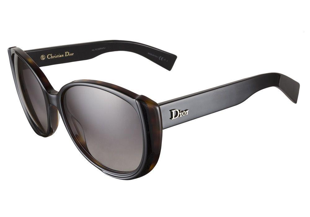 b9092ae1aaa9 Dior Summer Set 1 T6R Q8 Black Havana 56 sunglasses feature a bold ...