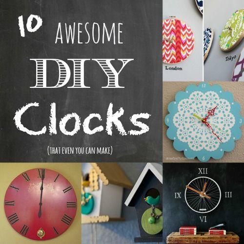 Diy Clock Ideas: DIY Round UP: 10 DIY Clocks