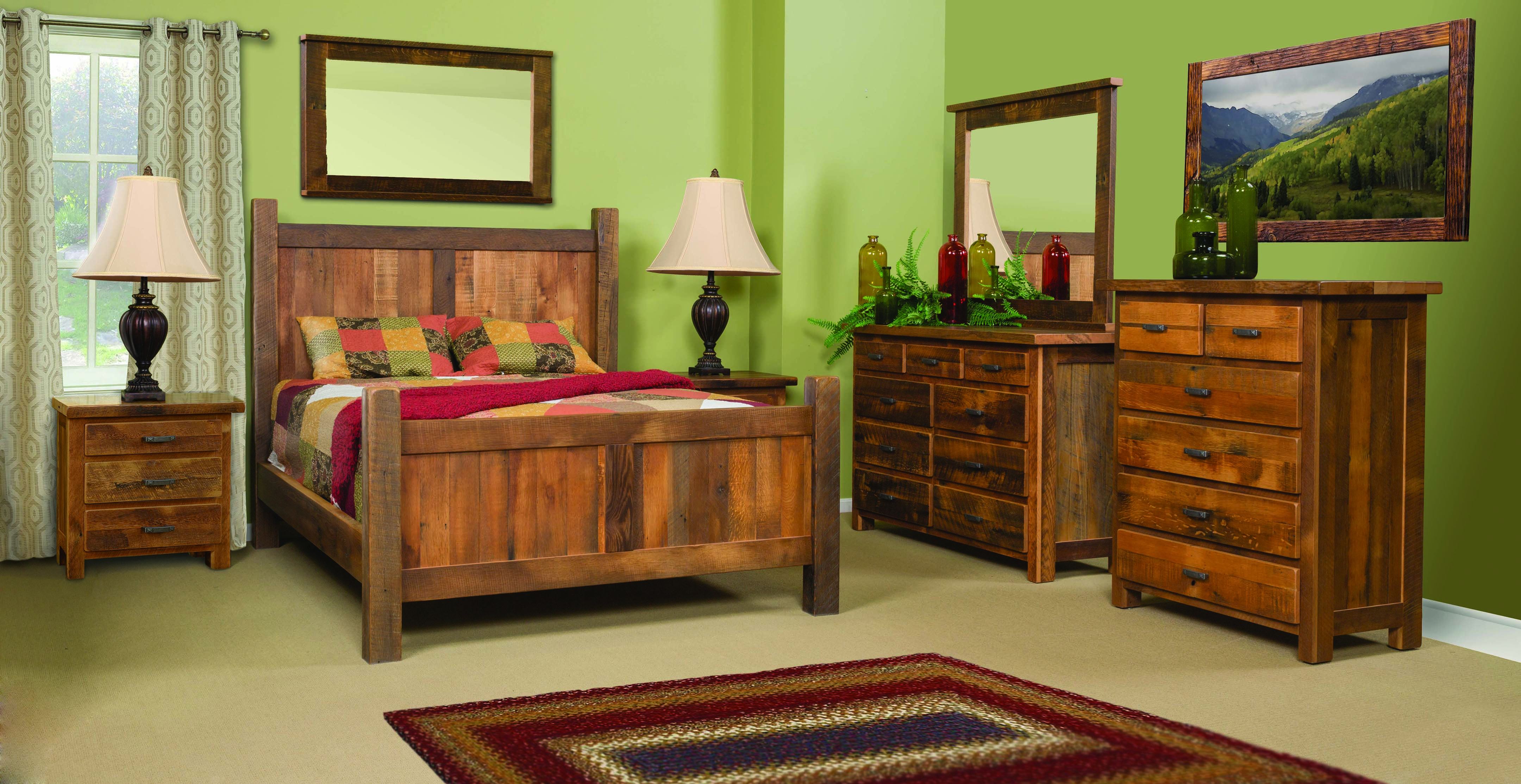 One of our Barnwood Bedroom Suites. Made of reclaimed