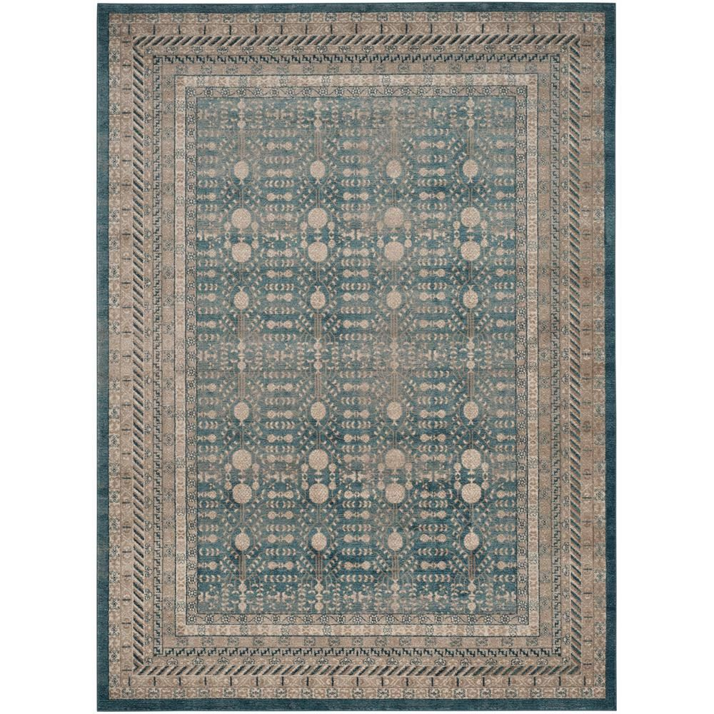 Safavieh Sofia Blue Beige 9 Ft X 12 Ft Area Rug Area Rugs Blue Area Rugs Rugs