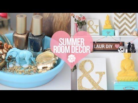 DIY: Easy Summer Room Decor | LaurDIY   YouTube Love The DIYs Not Big Fan