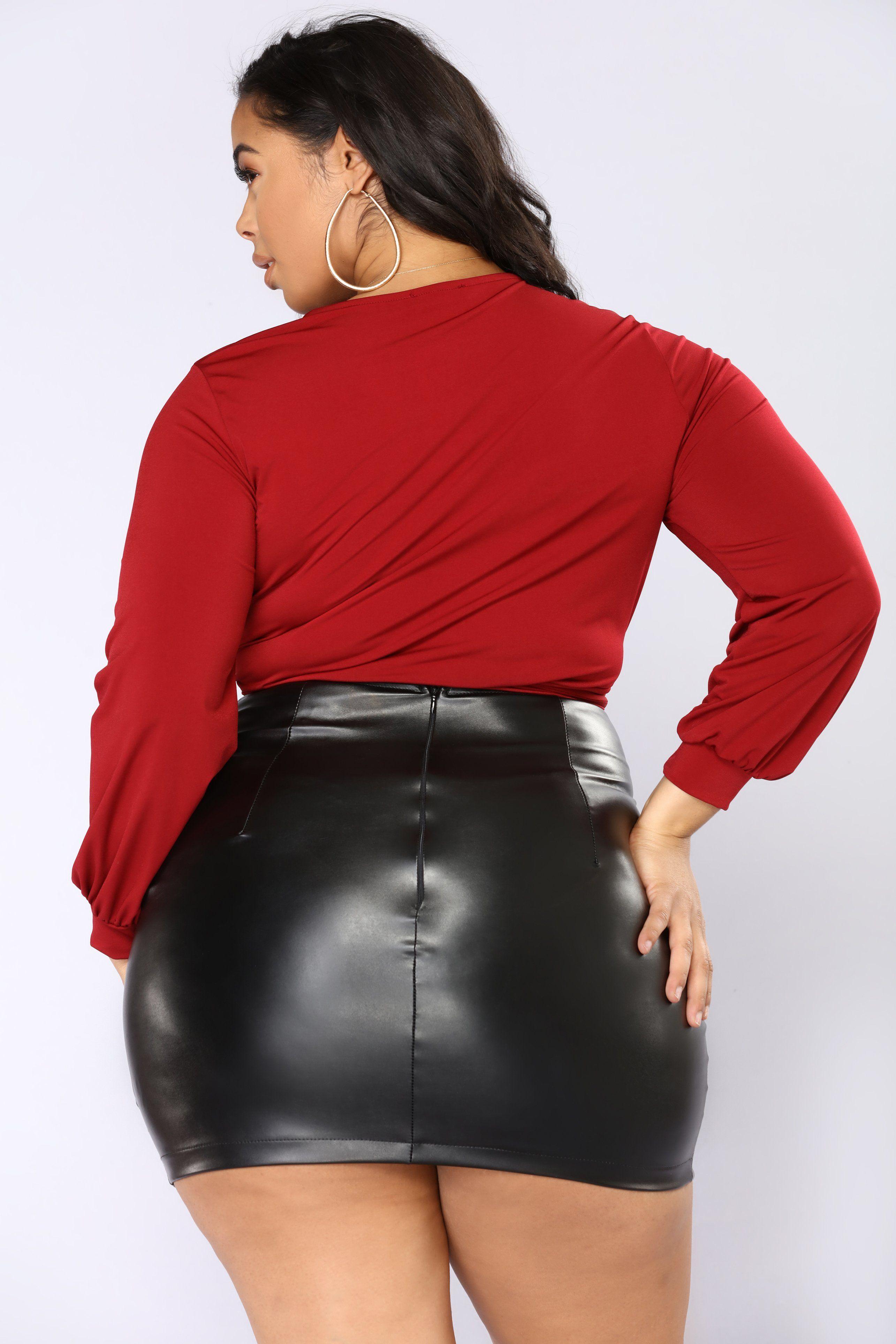 International TandA power girl Curvy Women Fashion, Big Girl Fashion,  Leather Outfits, Leather