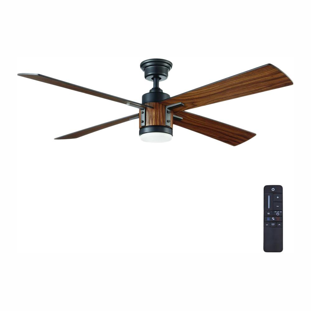 Home Decorators Collection Tybault 52 In Led Dc Motor Natural Iron Ceiling Fan Yg631 Ni The Home Depot Ceiling Fan Ceiling Fan Installation Home Decorators Collection