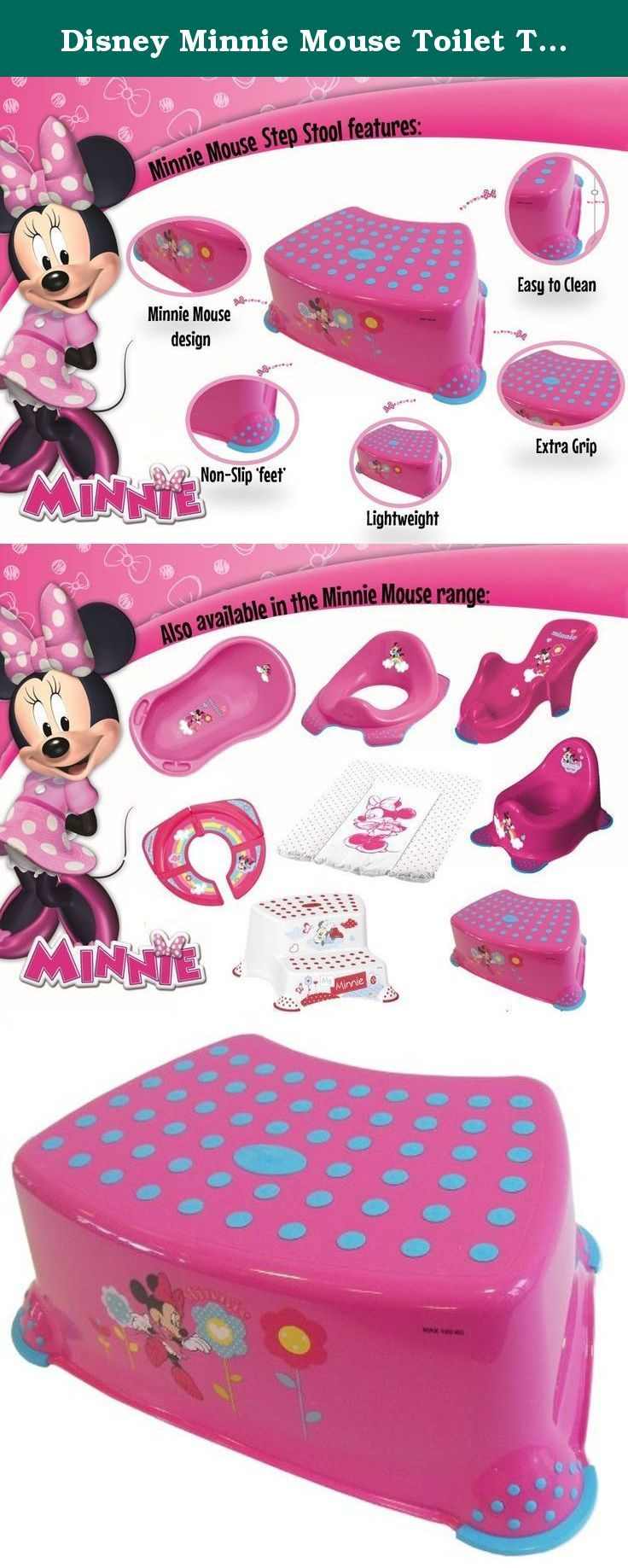 Disney Minnie Mouse Toilet Training Step Stool - Pink. With added non slip safety features : disney step stool - islam-shia.org