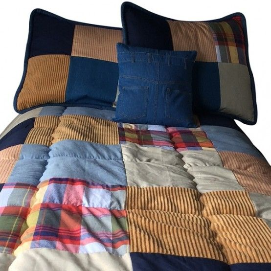 Patchwork Bedding Campus Bunk Bed Hugger With Two Tailored Corners