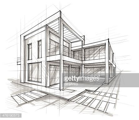 Architecture structure drawing google search design for Architecture modern house design 2 point perspective view