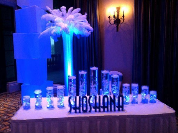Glowing Bat Mitzvah Candle Lighting Display Party Perfect