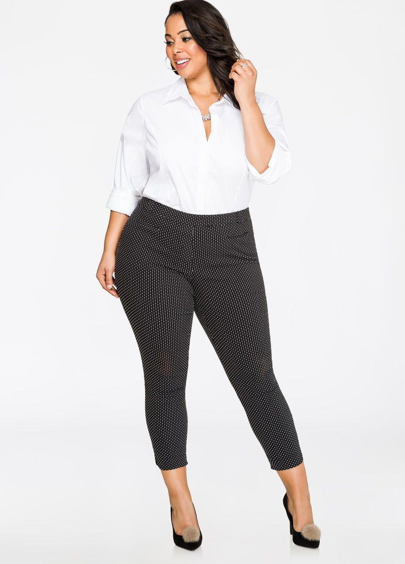 Cropped Mini Check Skinny Pant
