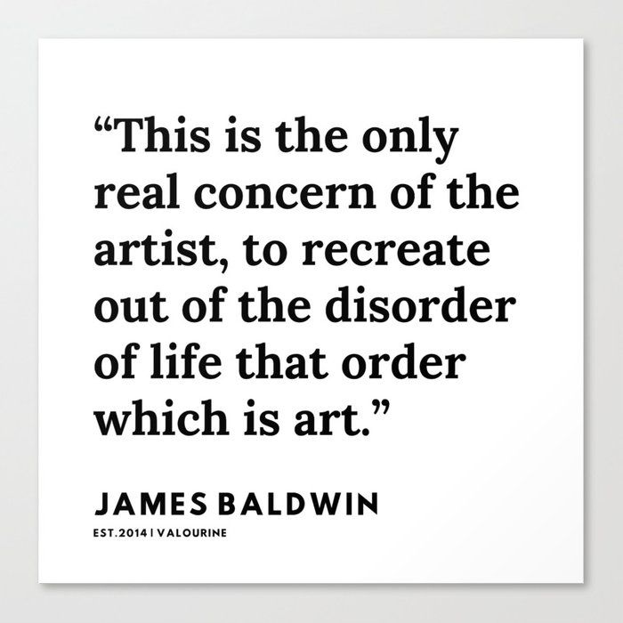 78    |James Baldwin Quotes |  200626 | Black Writers | Motivation Quotes For Life Canvas Print by Quotes And Sayings