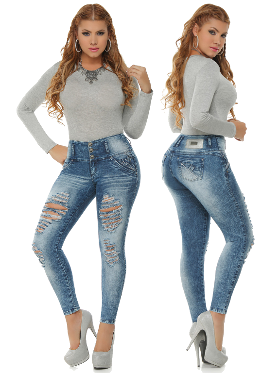 Sexy Distressed Blue Skinny Jeans | Sexy, Blue skinny jeans and ...
