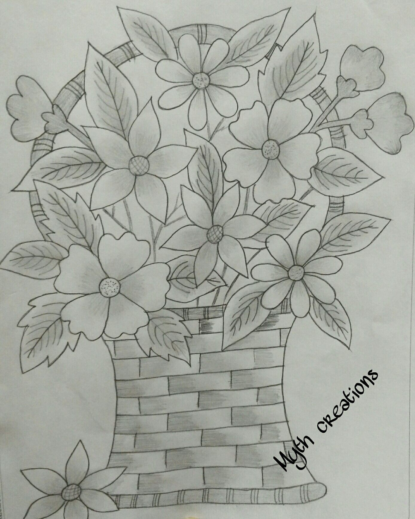 51 Unique Tattooed Flower Vase Youtube Flower Drawing Hibiscus Flower Drawing Flower Sketches