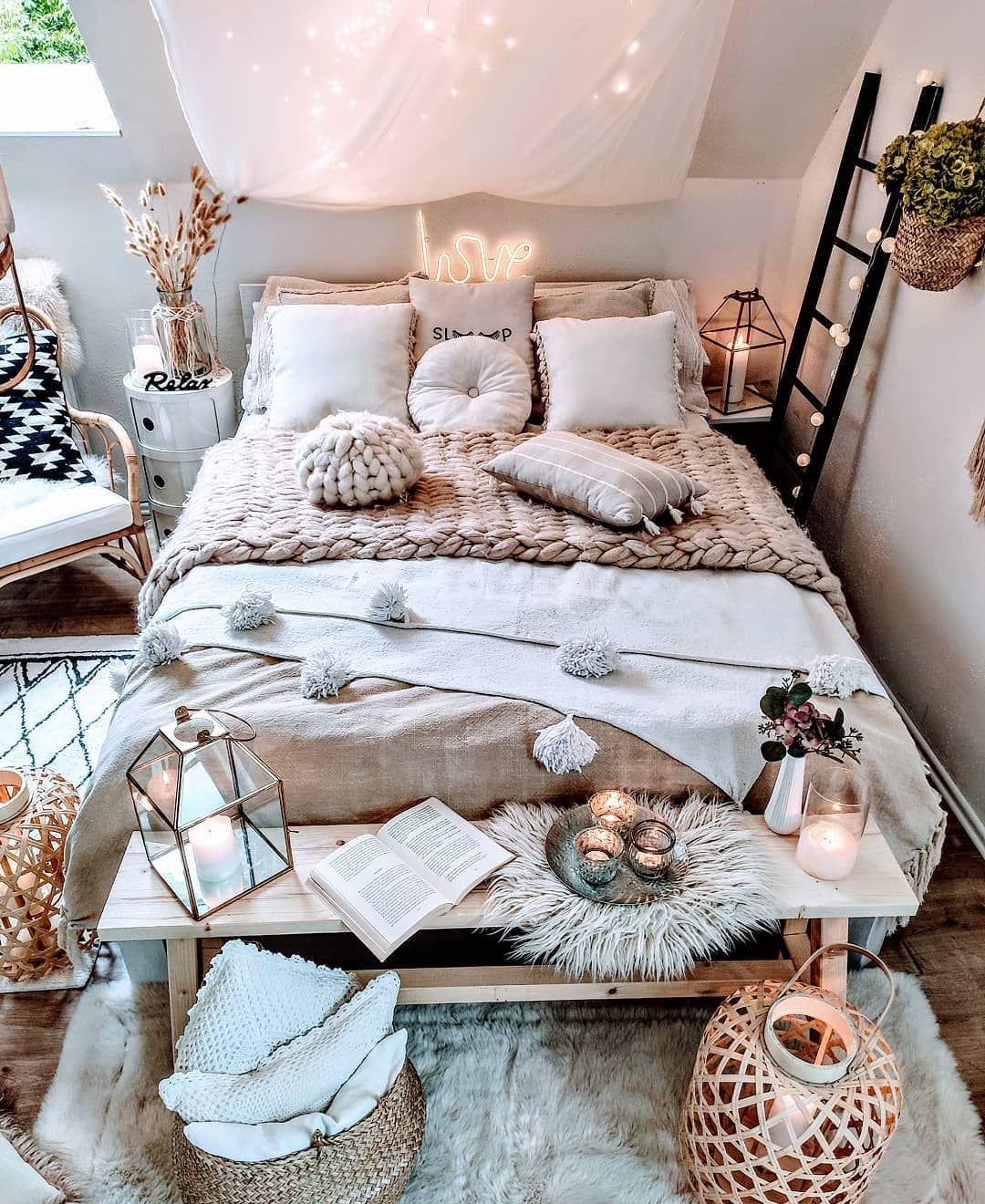 Idée de décoration intérieure style scandinave Chambre à coucher