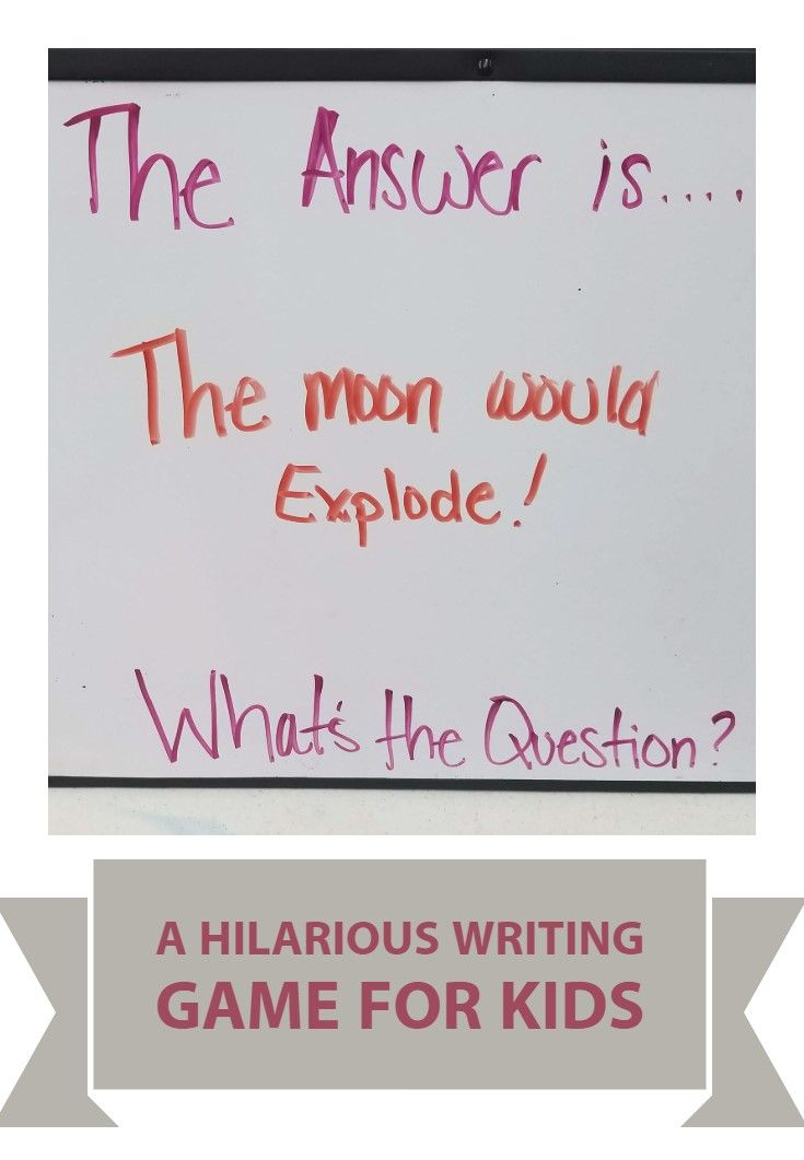 A Hilarious Writing Game for Kids