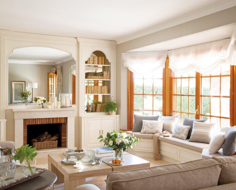 Salon de estar decoracion salon colores neutros for Comedores acogedores