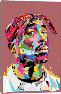 Tupac Canvas Art Print
