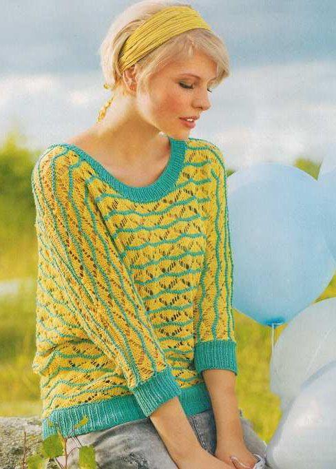 Схема летнего свитера