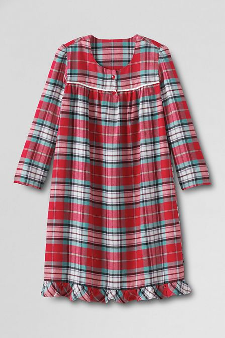 Lands End Girls Flannel Nightgown