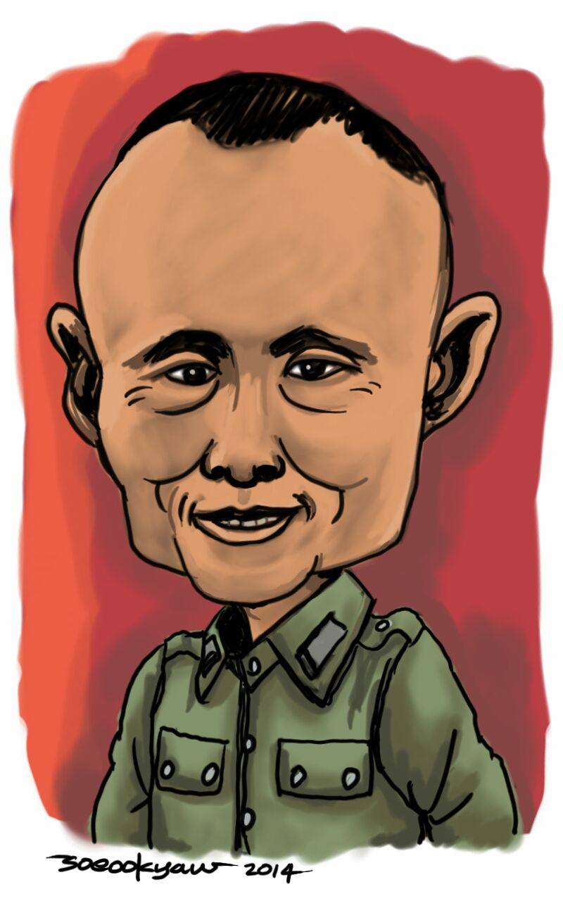 general aung san father of daw aung san suu kyi my caricatures  general aung san father of daw aung san suu kyi