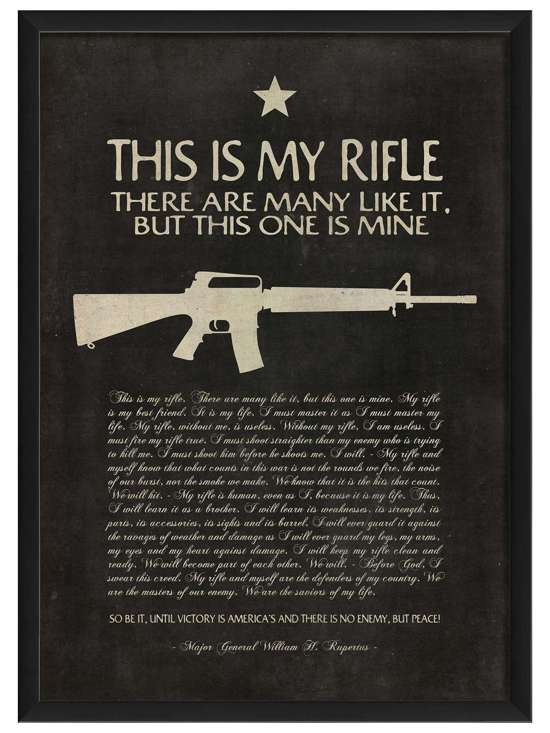 This is My Rifle (Framed) cool shit Pinterest