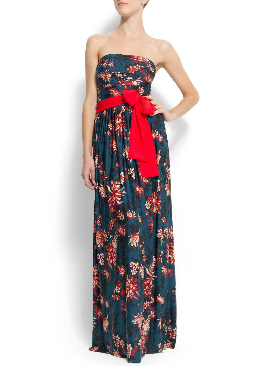 fe1b2774ab MANGO Vestido largo estampado flores 69