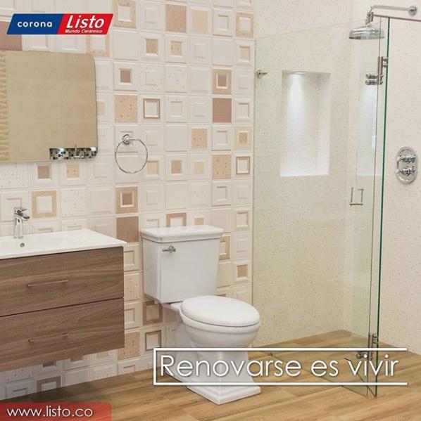listomundoceramicoDale un aspecto moderno a tu baño con nuestra moderna línea de muebles, con características que lo convierte en un elemento altamente decorativo. Visita http://www.listo.com.co/index.php/muebles-y-lavamanos/ #renovarseesvivir #hogar #remodelacion #baño #tendencias