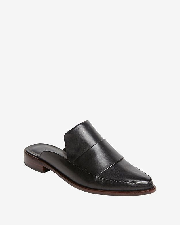 f66aeab323b49 Tibi Flat Loafer Mule: These sturdy-chic leather open back mules are ...