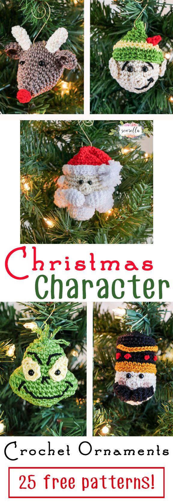 Christmas Character Crochet Ornaments | 25 Days of Christmas ...
