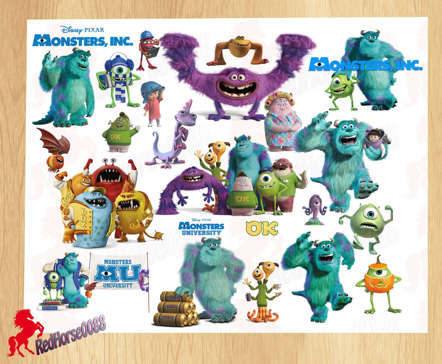 Monsters pictures characters names inc and