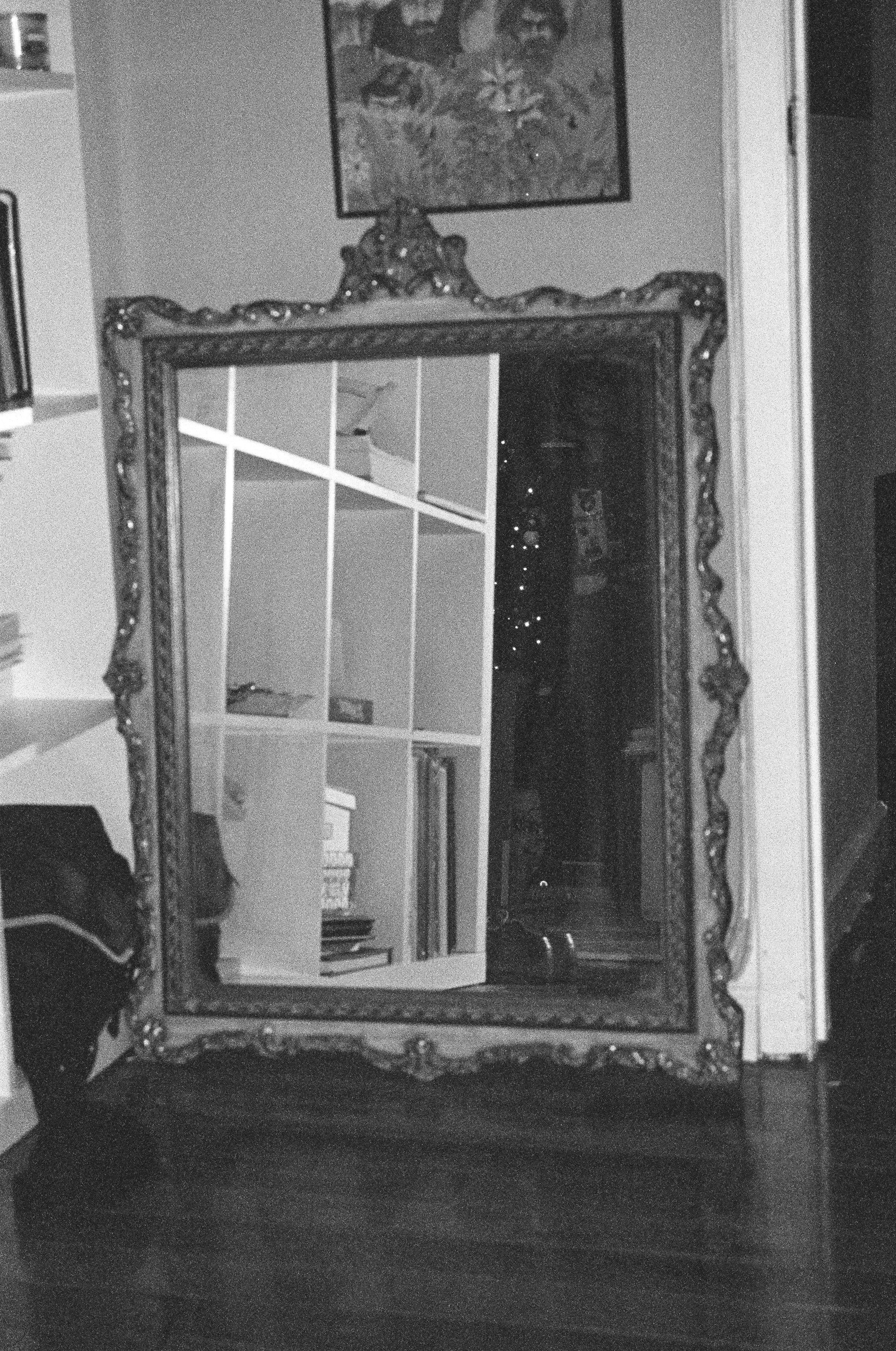 Vintage mirror from Jake's flea market - only $50!