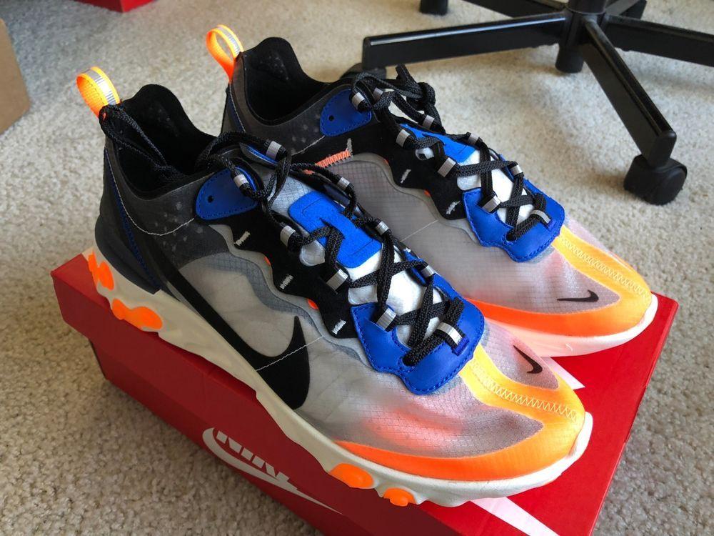 pretty nice 4c734 623a5 Nike React Element 87 Total Orange Black Thunder Blue White AQ1090-004 Sz  9.5  fashion  clothing  shoes  accessories  mensshoes  athleticshoes (ebay  link)