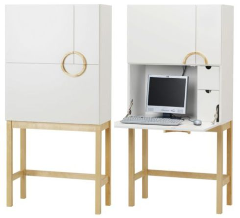 Ikea Cyril Desk And Cabinet Desks For Small Spaces Desk Cabinet