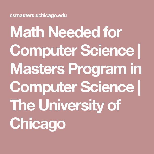 computer science masters programs