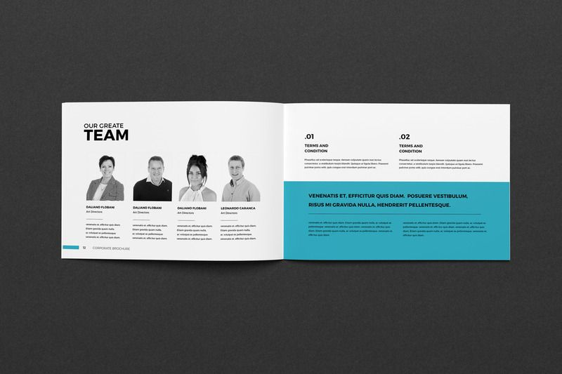 A4 corporate business brochure clean business editable