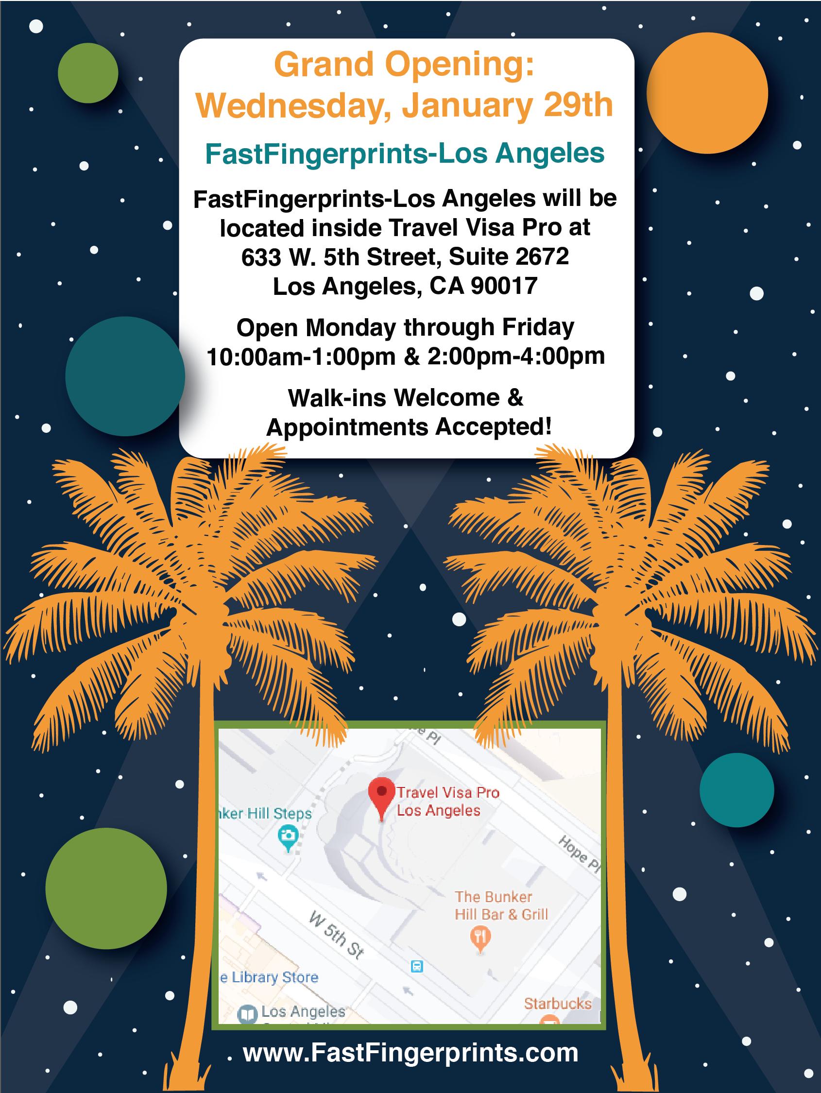 FastFingerprints (inside Travel Visa Pro) in Los Angeles