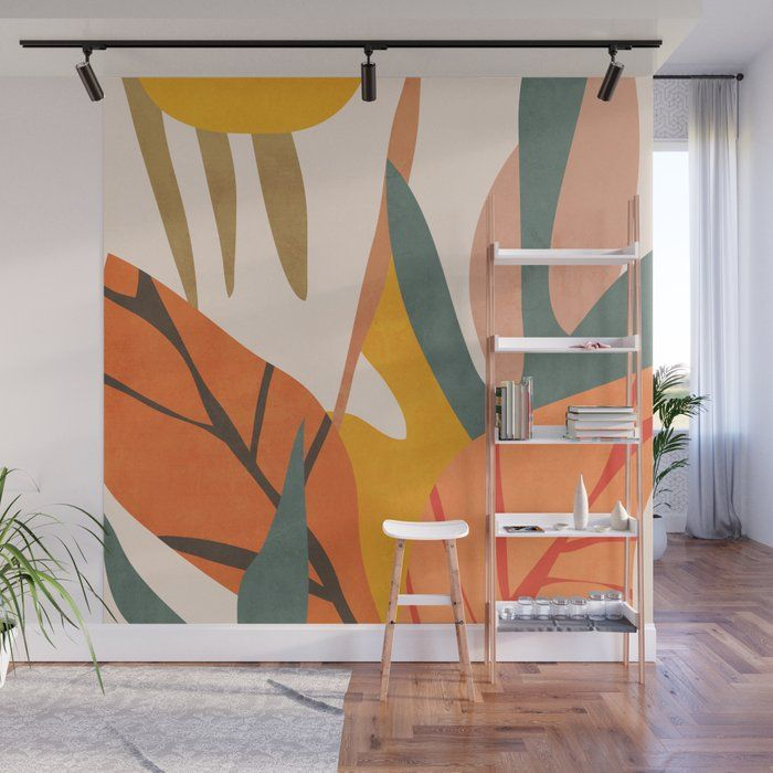 Abstract Art Jungle 5 Wall Mural by Thingdesign -